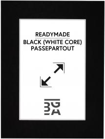 Paspatuuri Musta (Valkoinen keskus) 24x30 cm (17x23)