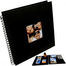 Fun Kierrealbumi Musta- 30x30 cm (50 Mustaa sivua / 25 lehteä)