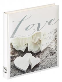 Love is all you need - 28x30,5 cm (50 Valkoista sivua / 25 lehteä)