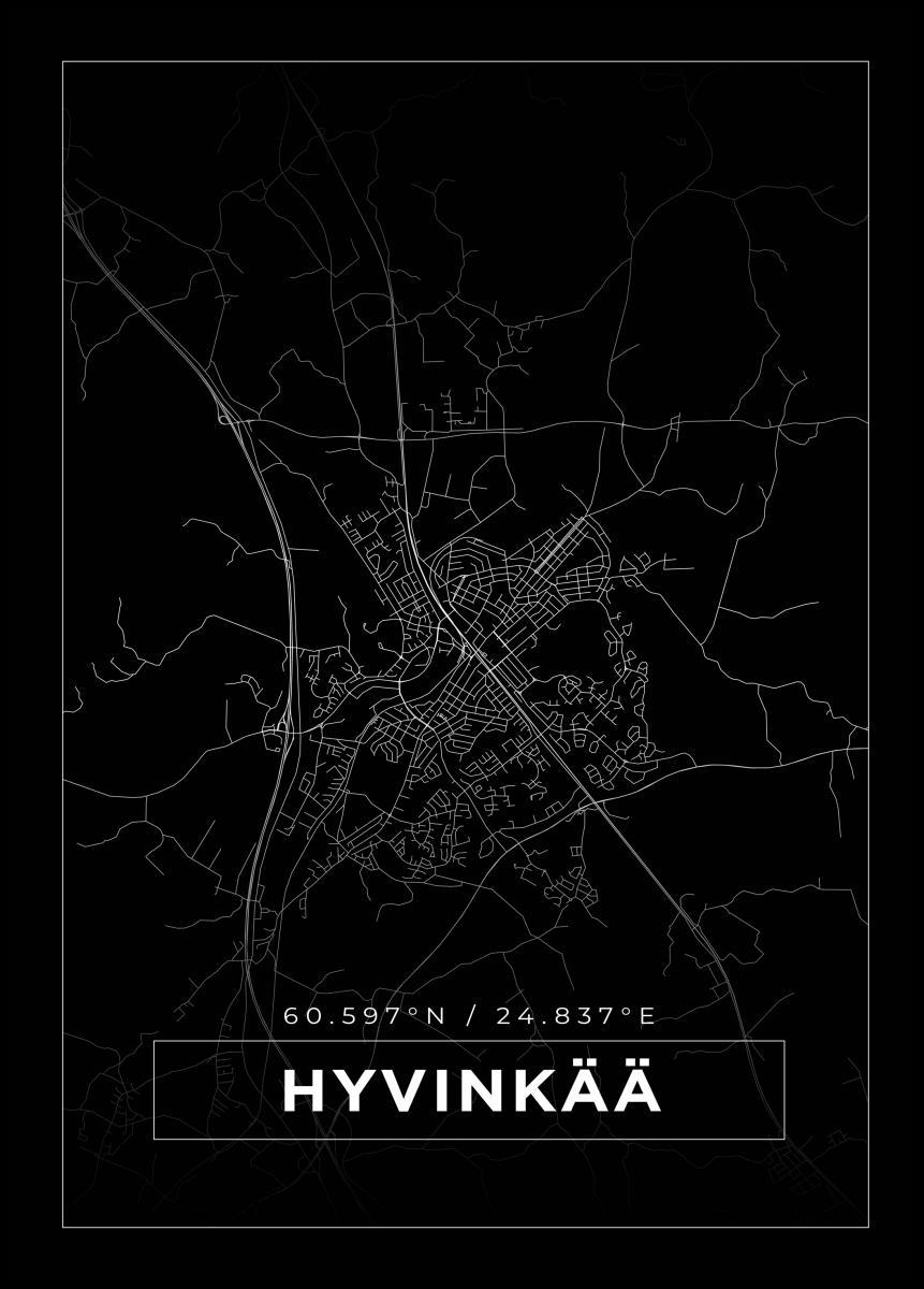 Kartta Hyvinkaa Musta Bga Fi
