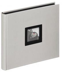 Black & White Harmaa - 26x25 cm (50 Mustaa sivua / 25 lehteä)