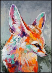 Fox Painting Juliste