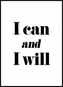 I can and I will Juliste