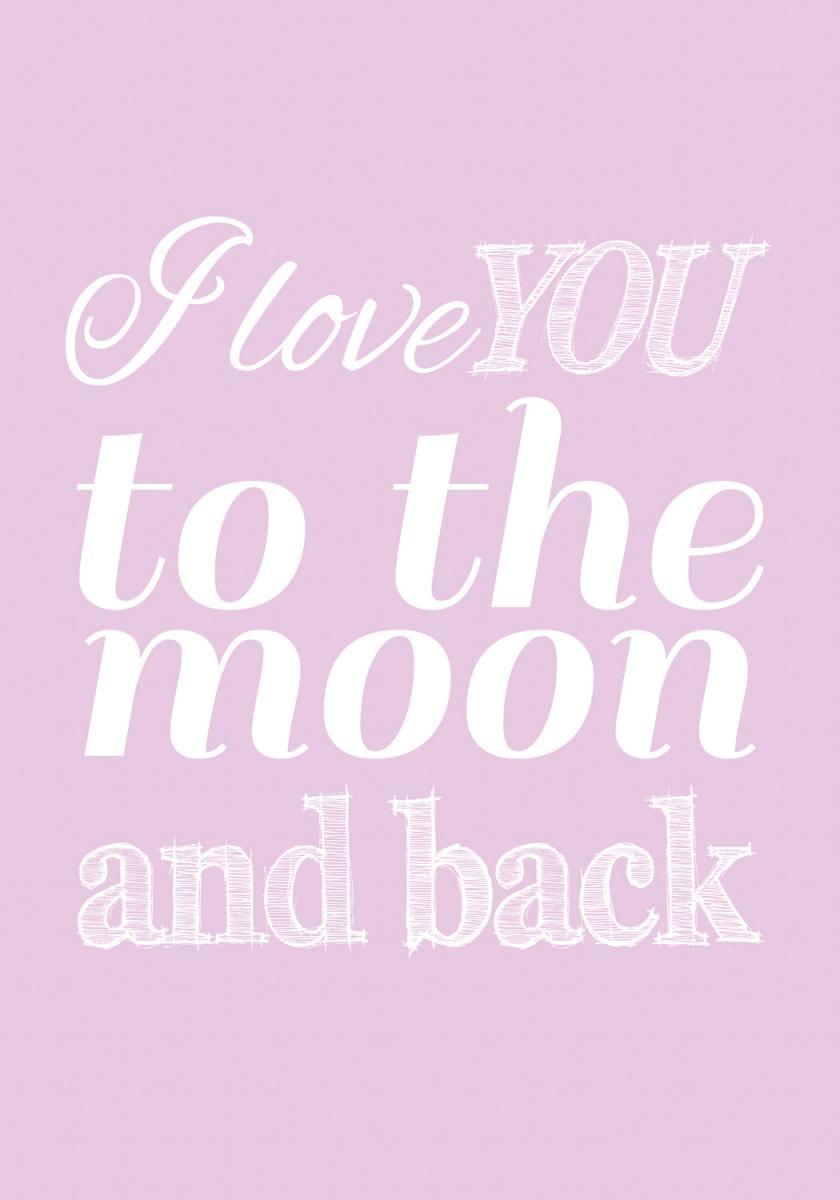 Love you to the moon - Lavender
