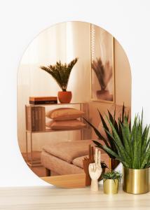 KAILA Peili Oval Rose Gold 70x100 cm