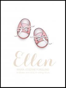 Vauvan kengät - Vaaleanpunainen