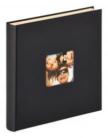 Fun Itsekiinnittyvä Musta - 33x34 cm (50 Valkoista sivua / 25 lehteä)