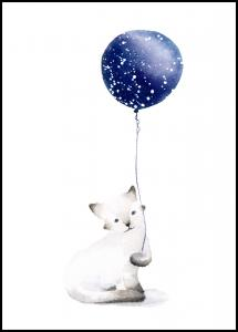 Cat With Balloon Juliste