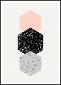 Abstract Hexagons Juliste