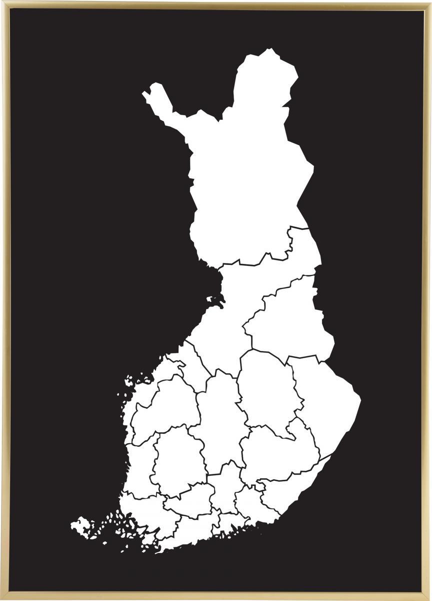 Kartta Suomi Valkoinen Bga Fi