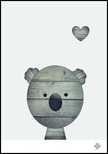 Wood koala Juliste