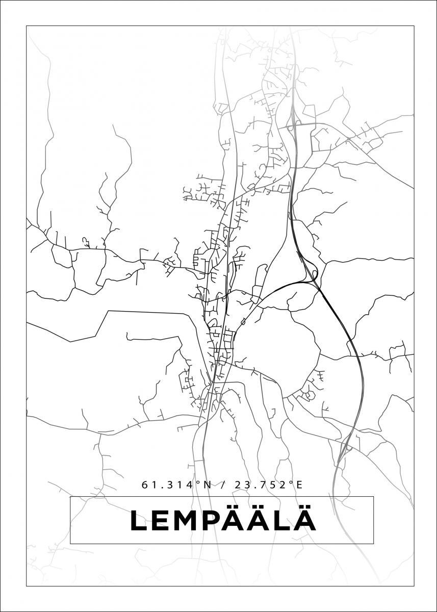 Kartta Lempaala Valkoinen Bga Fi