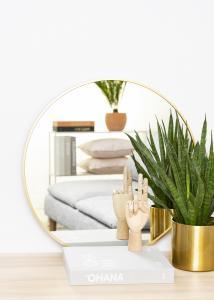 KAILA Round Mirror - Edge Gold 60 cm Ø