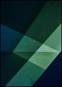 Green & Blue Graphic Juliste