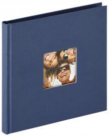 Fun Sininen - 18x18 cm (30 Mustaa sivua / 15 lehteä)