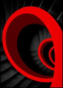 A red spiral Juliste