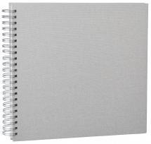 Base Line Canvas Wire-O Beige 30x30 cm (50 Valkoista sivua / 25 Lehteä)
