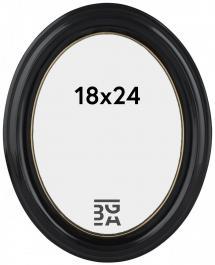 Eiri Mozart Ovaali Musta 18x24 cm