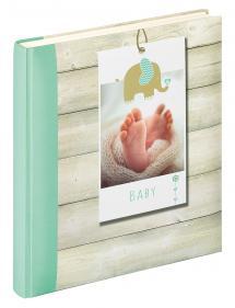 Welcome Vauvaalbumi Vihreä - 28x30,5 cm (50 Valkoista sivua / 25 lehteä)
