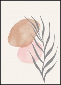 Painted Leaf II Juliste