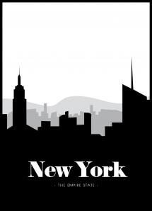New York Skyline Juliste