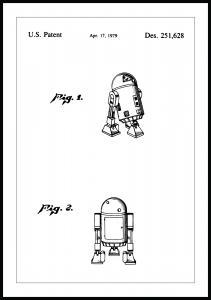 Patentti Piirustus - Star Wars - R2-D2 Juliste