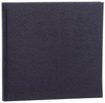 Base Line Canvas Musta 26x25 cm (40 Valkoista Sivua / 20 Lehteä)