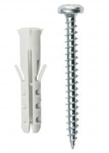 Ruuvi ja tulppa betoniseinälle - 5-pakkaus (40x8 mm)