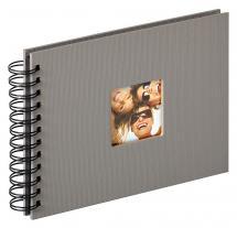 Fun Spiralalbum Harmaa - 23x17 cm (40 Musta sivua / 20 lehteä)