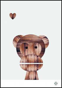 Wood monkey Juliste