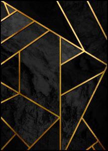 Gold & Black Marble Juliste
