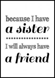 Because i have a sister - Musta Juliste