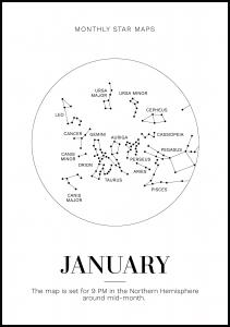 Monthly star January Juliste