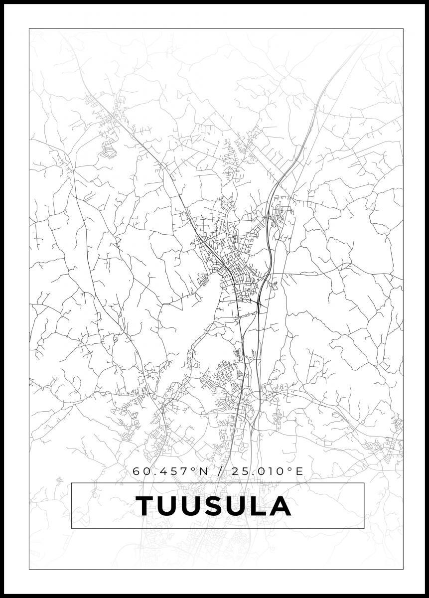 Kartta Tuusula Valkoinen Bga Fi