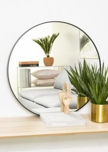 KAILA Round Mirror - Edge Black 80 cm Ø