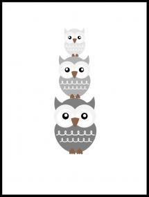 Pöllö Trio - Haaleanharmaa Juliste