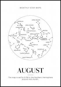 Monthly star August Juliste