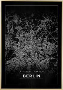 Kartta - Berlin - Musta Juliste
