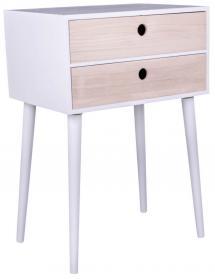 Yöpöytä Rimini 32x45 cm - Valkoinen/Puu