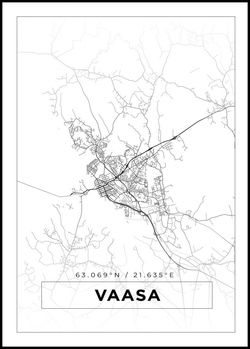 Kartta Vaasa Valkoinen Bga Fi