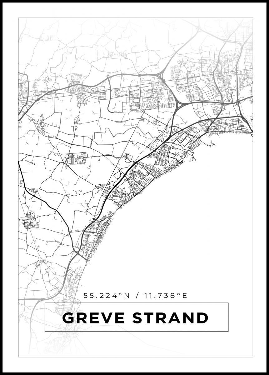 Kartta Greve Strand Valkoinen Bga Fi