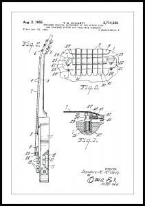 Patentti Piirustus - Sähkökitara II Juliste