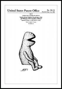 Patentti Piirustus - Kermit I Juliste
