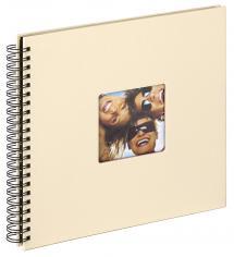Fun Kierrealbumi Creme - 30x30 cm (50 Mustaa sivua / 25 lehteä)
