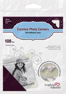 3L Creative Photo Corners Valkoinen - 108 kpl