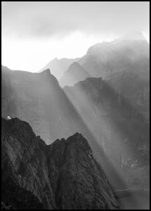 Shadow On Mountains Juliste