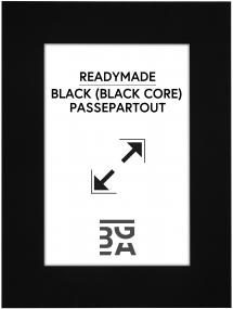 Paspatuuri Musta (Musta keskus) 30x40 cm (19x29)
