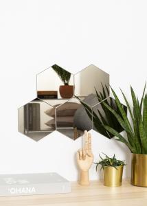 KAILA Peili Hexagon Dark Bronze 18x21 cm - 5-pakkaus