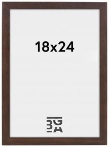 Kehys Stilren Akryylilasi Saksanpähkinä 18x24 cm