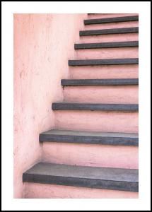 Pink stairs Juliste